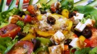 Green Bulgur Salad with feta cheese