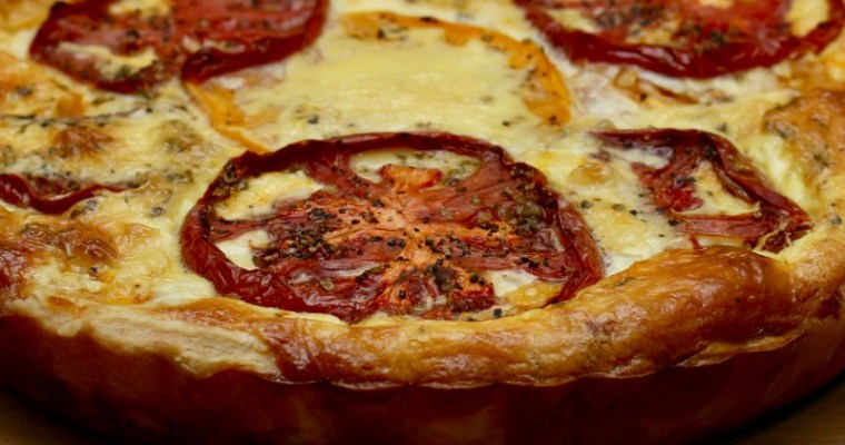 Heirloom Tomato & Blue Cheese Brunch Tart