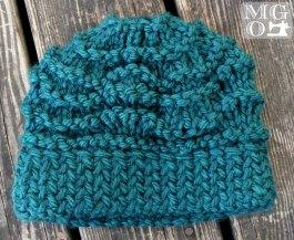 teal beanie handmade knits