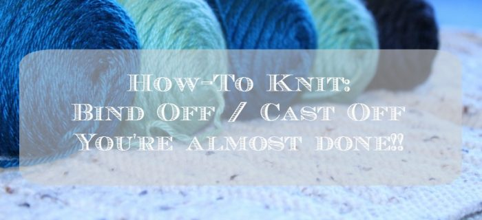 Casting Off Knitting