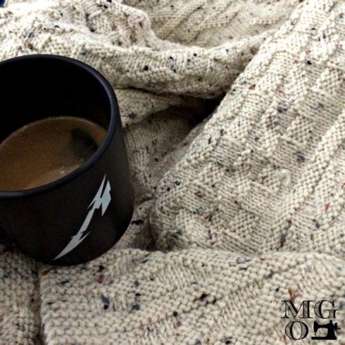 coffee knitting and metallica