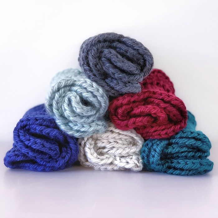 Marilue Cowls shown rolled up and stacked