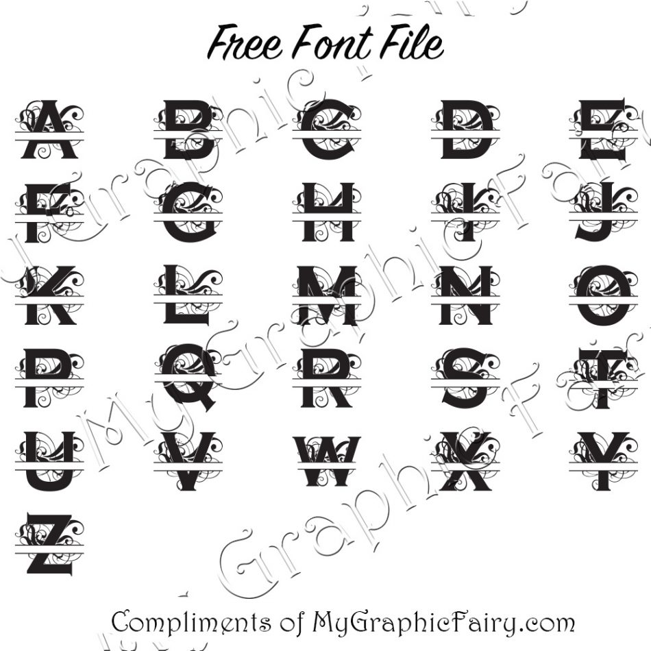 Abstract Split Letter Font Svg Download My Graphic Fairy