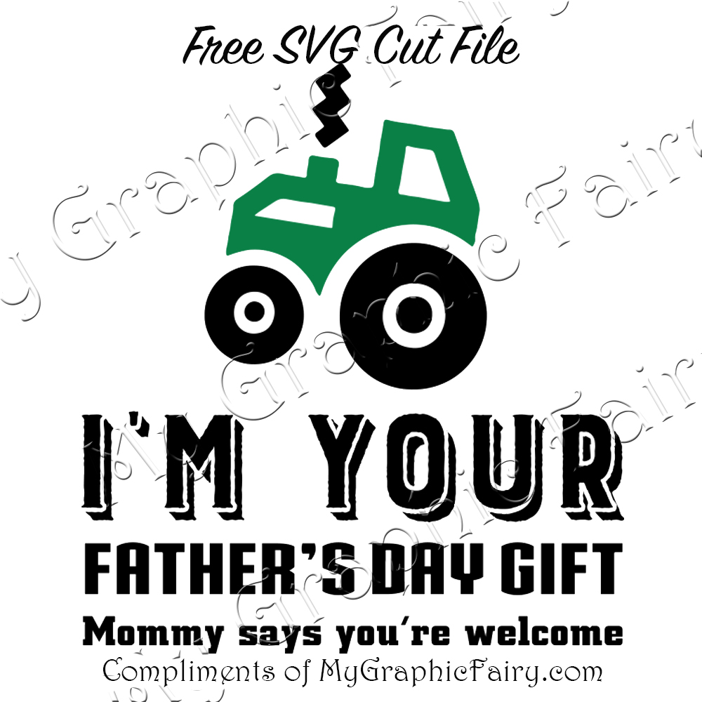Boy's Father's Day Tee Design - FREE SVG - My Graphic Fairy
