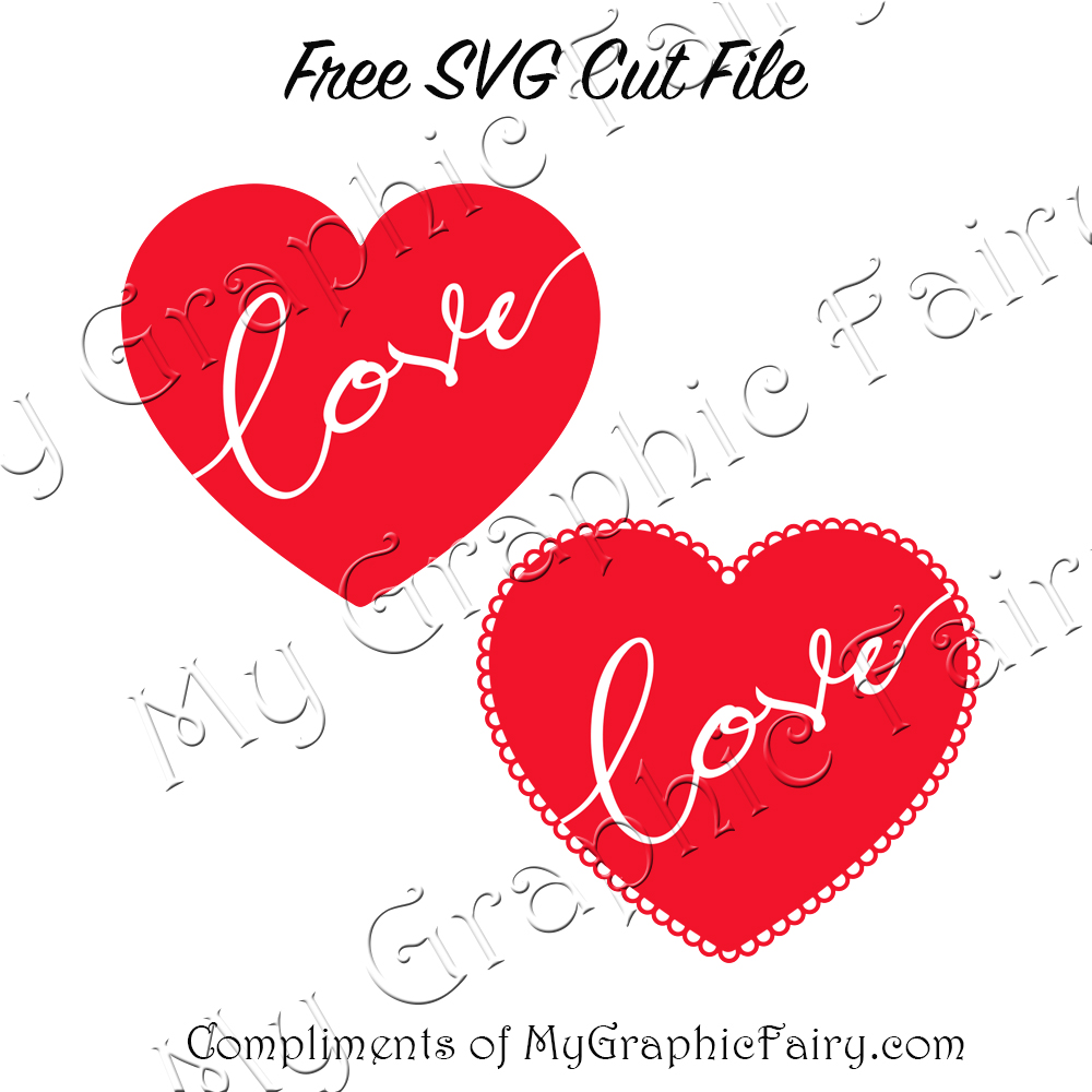 Love Heart Svg Set My Graphic Fairy