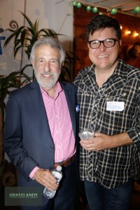 George Zimmer and Ricardo Baca at the Grasslands Launch Party.
