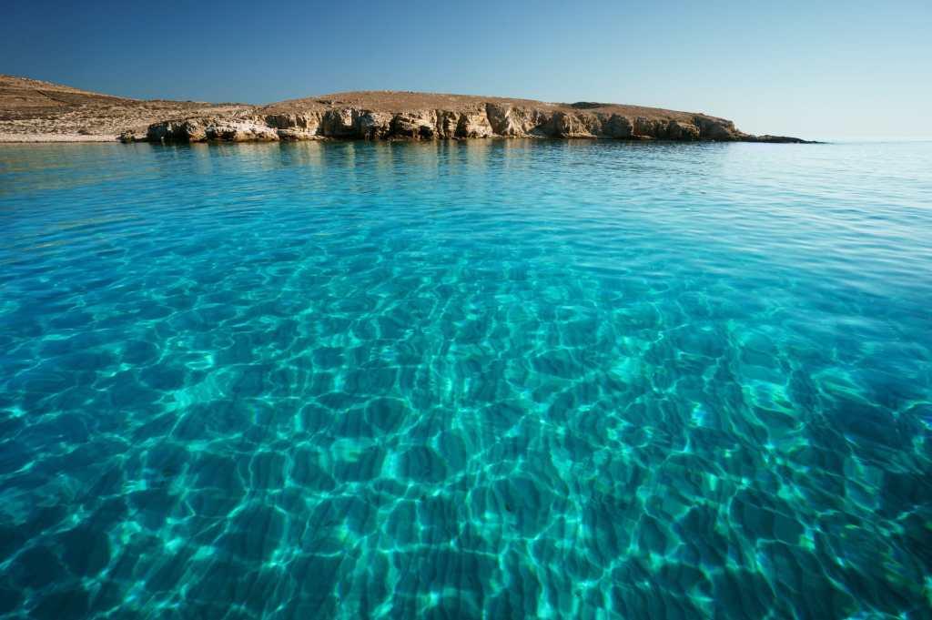Rheneia island water