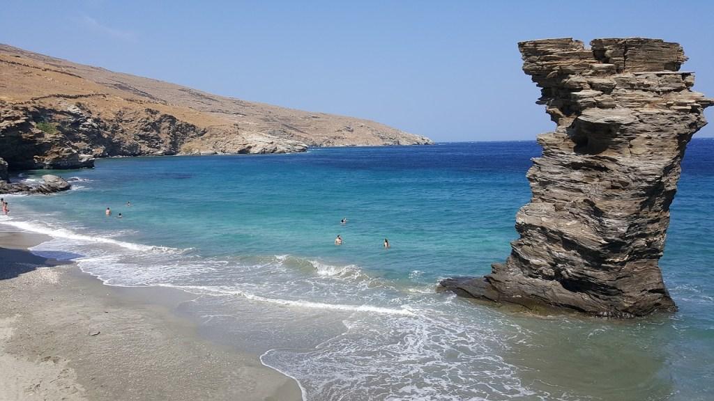 Tis Grias To Pidima Andros Beach