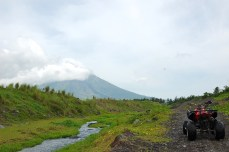 The elusive Mayon. We hardly saw its tip during our trip.