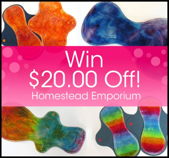 Postpartum Cloth Pads - Homestead Emporium Giveaway