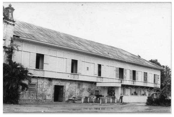 An undated archival photo of the Argao convent, which houses the museum. (Photo from the University of San Carlos Cebuano Studies Center.)