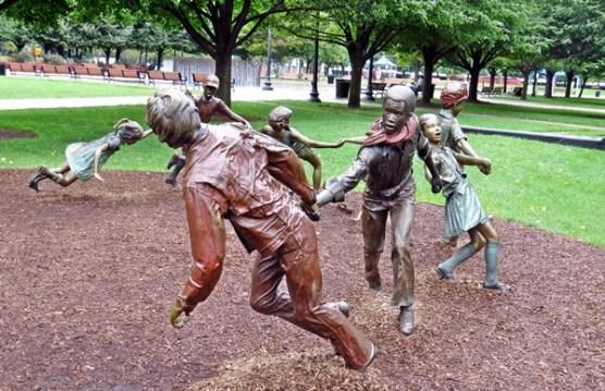 Statue of Children Playing