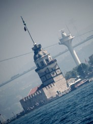 maiden tower in the morning mist