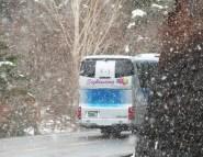 spring snow - mt fuji