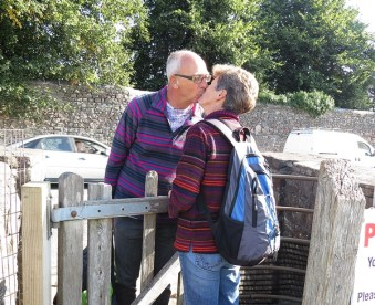 friends in the kissing gate