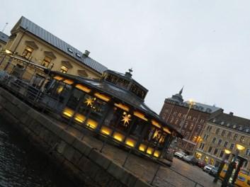 restaurant in the dusk