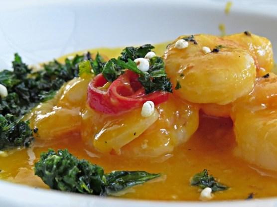 prawns in mango and chilli