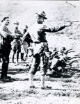 US Army officer training with 1911 pistol in France circa 1918 (image: FortDouglas.org)