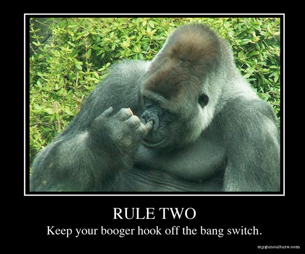 Rule Two: Keep Your Booger Hook Off The Bang Switch