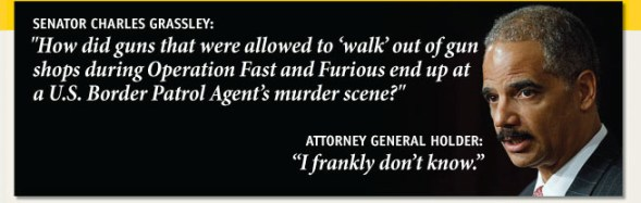 Senator Grassley and Eric Holder Conversation Operation Fast and Furious