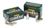 Speer 9mm Gold Dot 124gr HP bonded hollow point ammunition