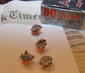 Hornady Critical Duty 9mm expansion performance