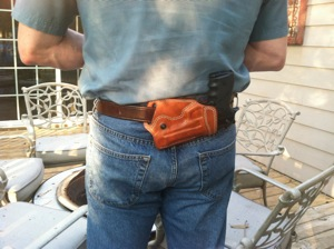 The Hunchback of the Mall - Small of Back holster user