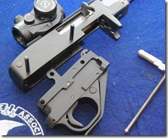 Ruger 10/22 trigger group housing removal