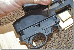 remove ruger 10/22 trigger housing front pin