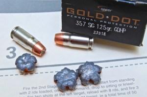 Speer Gold Dot .357 Sig Ammunition expansion