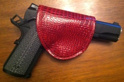 Pretty Dangerous Accessories Duty Red Croc Holster with Springfield Armory TRP