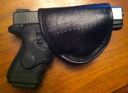 Pretty Dangerous Accessories Black Lizard Holster with Glock 32