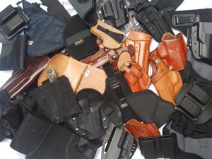 Box of gun holsters