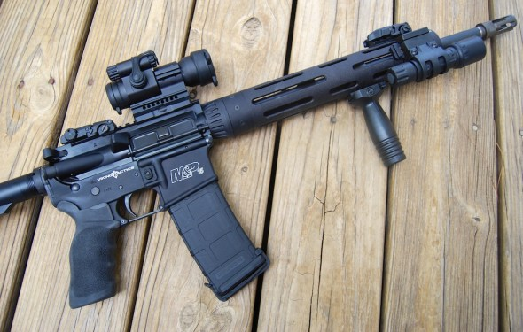 We purchased this nifty Smith & Wesson M&P 15 VTAC online from GunUp.com