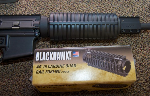 Blackhawk! AR-15 Quad Rail Forend before