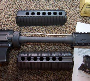 Blackhawk! AR-15 Quad Rail Forend handguard removed