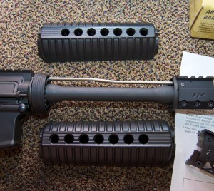 Blackhawk! AR-15 Quad Rail Forend handguard removed