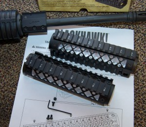 Blackhawk! AR-15 Quad Rail Forend package contents