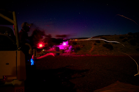 Nothing quite like a little machine-gunning in the dark!