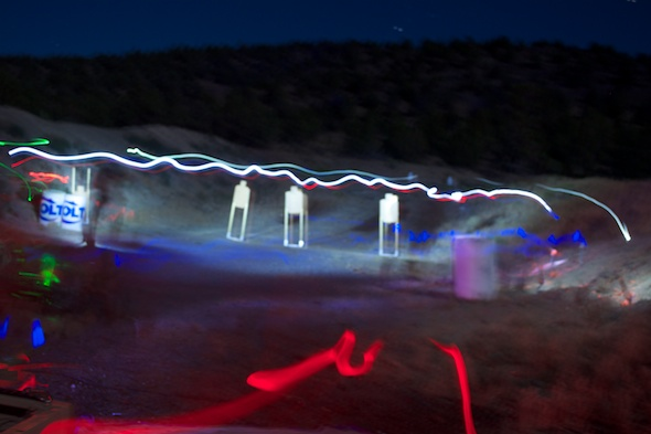 Note the path of the light and laser. The green one at left shows the path of the shotgun laser.