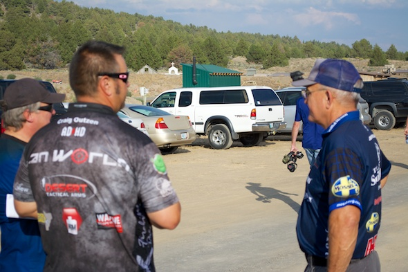 Jerry Miculek waiting for the match to start.