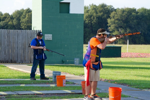 University of Kentucky versus University of Florida for the mens trap individual title.