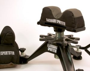 I prefer a two-part rest like this Blackhawk! Sportster Titan III as it keeps the shooter involved.
