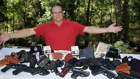 Just a few holster options for light and laser equipped handguns.