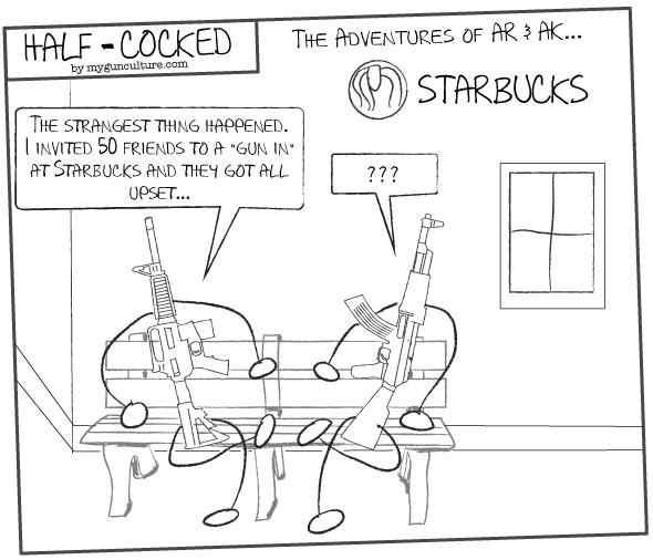 Starbucks gun debate