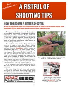 Free eBook! A Fistful of handgun Shooting Tips