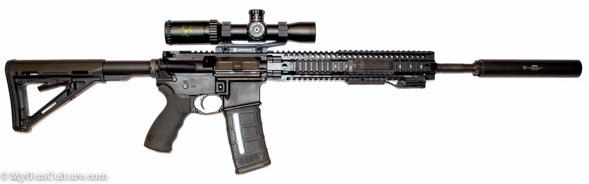 I tested the Weaver Kaspa-Z on a Daniel Defense DDM4v5 300 Blackout rifle. Suppressed of course.