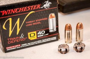 The Defend .40 S&W rounds expanded beautifully in bare gel and after passing through fabric barriers.