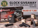 Wanna Win a Glock 42, Holster, Tac Light and Lots of Ammo?