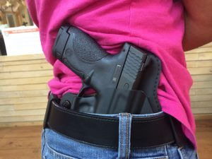 The IWB Cloak Tuck 2.0 in use with standard belt clips.
